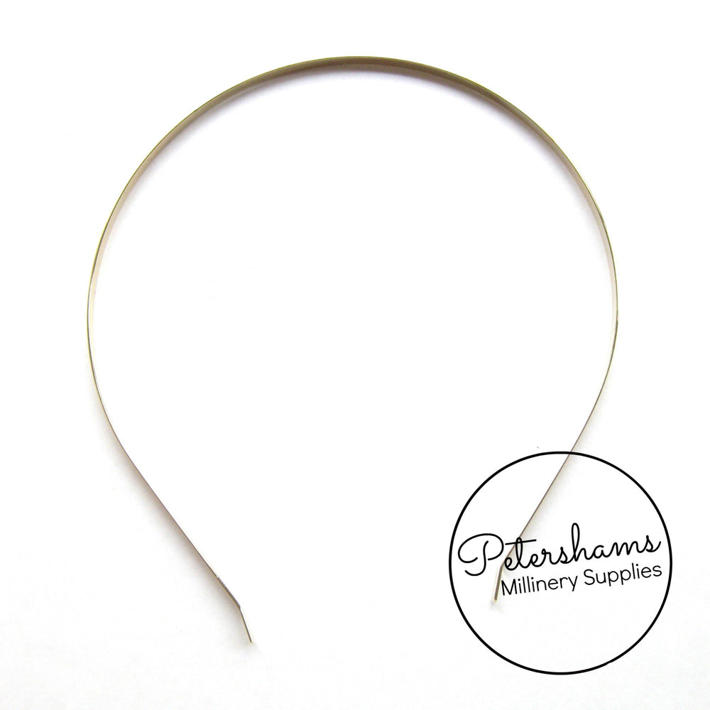 5mm Metal Tiara Headbands - Silver or Gold Plated
