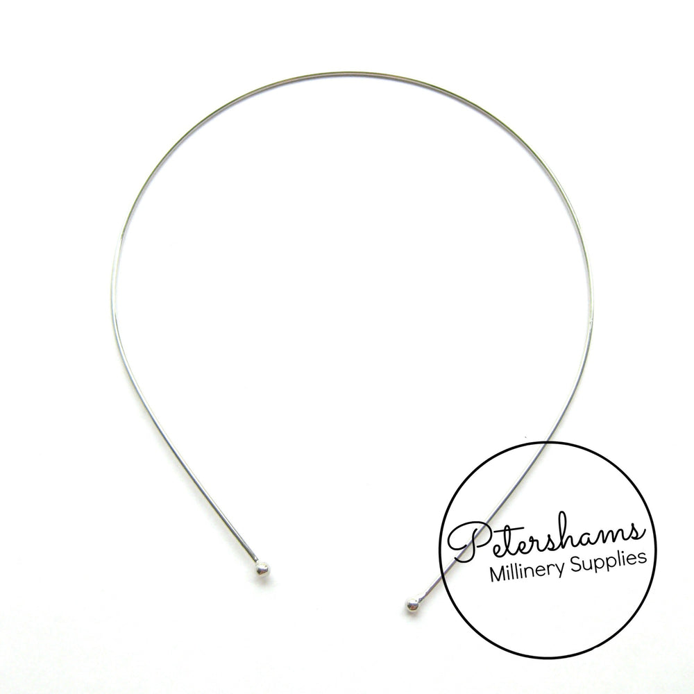 1.5mm Thin Metal Tiara Headbands - Silver or Gold Plated