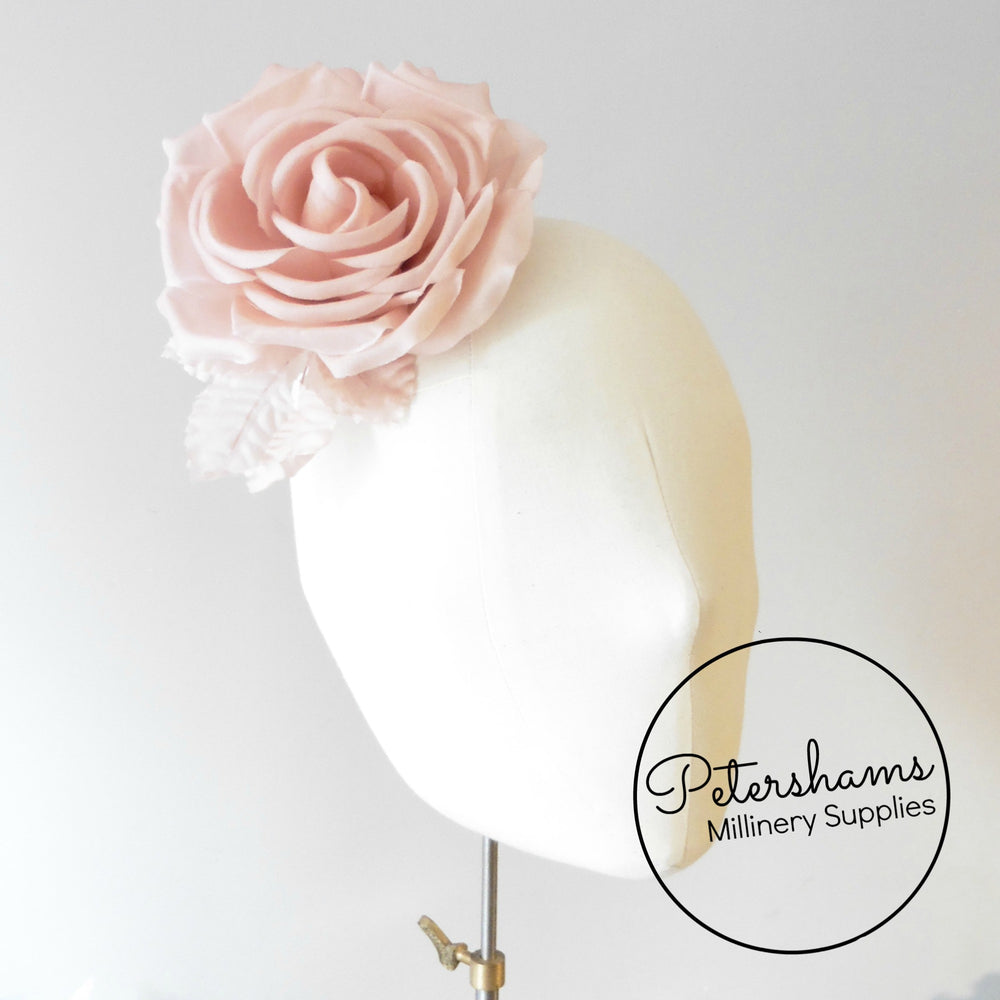 'Kelly' Silk 14cm Rose Millinery Fascinator Flower Hat Mount