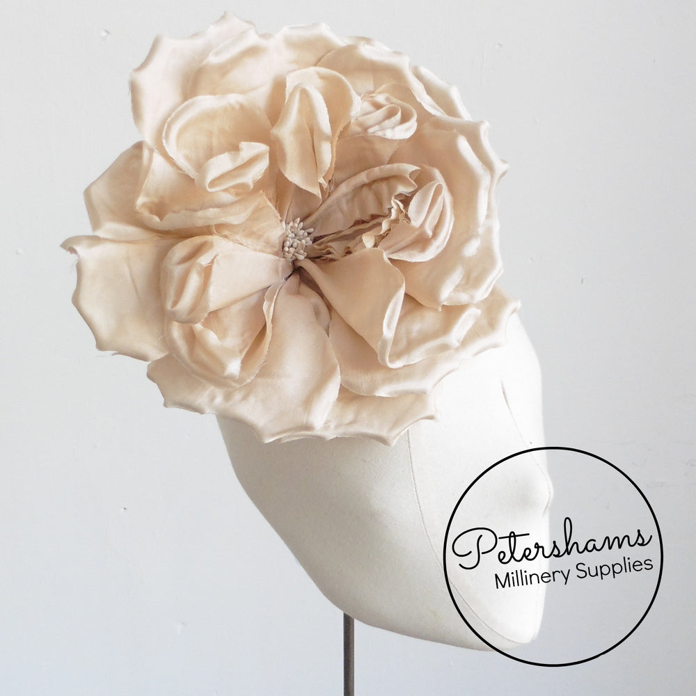 'Lucinda' Extra Large Silk 20cm Rose Millinery Flower