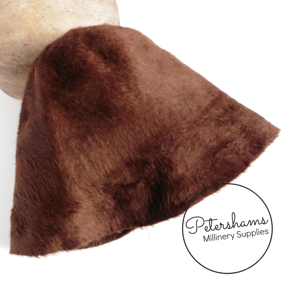 Melusine Vintage Fur Felt Cone Hood Hat Body - Beige & Browns