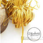 6mm Metallic Gold Plaited Millinery Braid