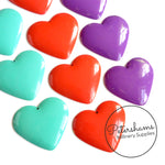 Vintage 1970s Metal Heart Adornments - Pack of 10