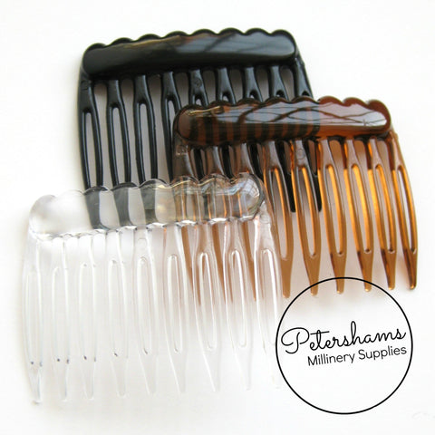 5cm Mini Plastic Hair Combs - Pack of 12