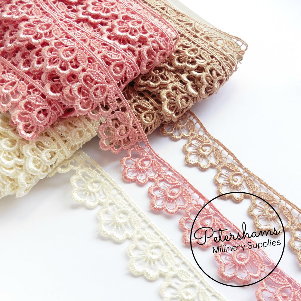Plump Flower Guipure Lace Trim -1m