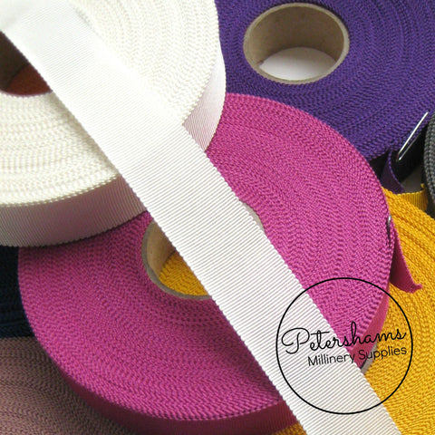25mm No.5 Millinery Petersham Hat Ribbon - 1m