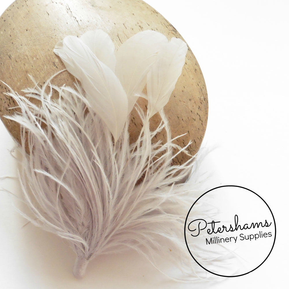 Ostrich & Stripped Coque Feather Mount