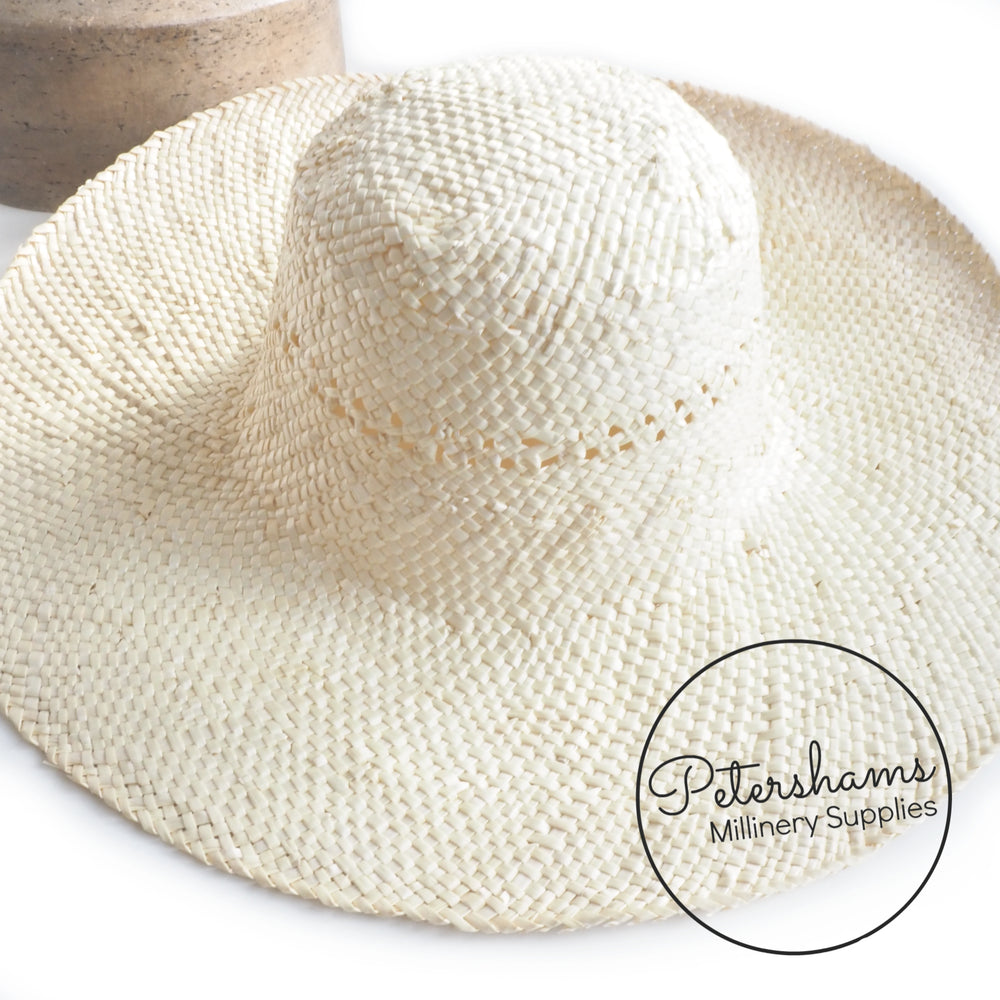 Natural Patterned Crown Wheatstraw Capeline Hat Body