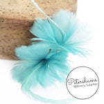 Petite Double Goose Feather Flower