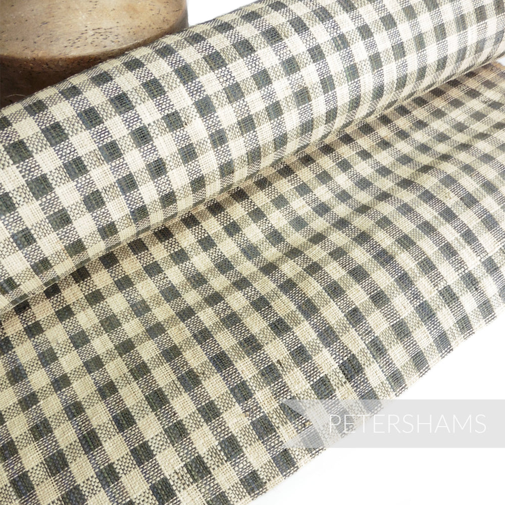 Checkerboard Raffia Straw Fabric - 1/2m