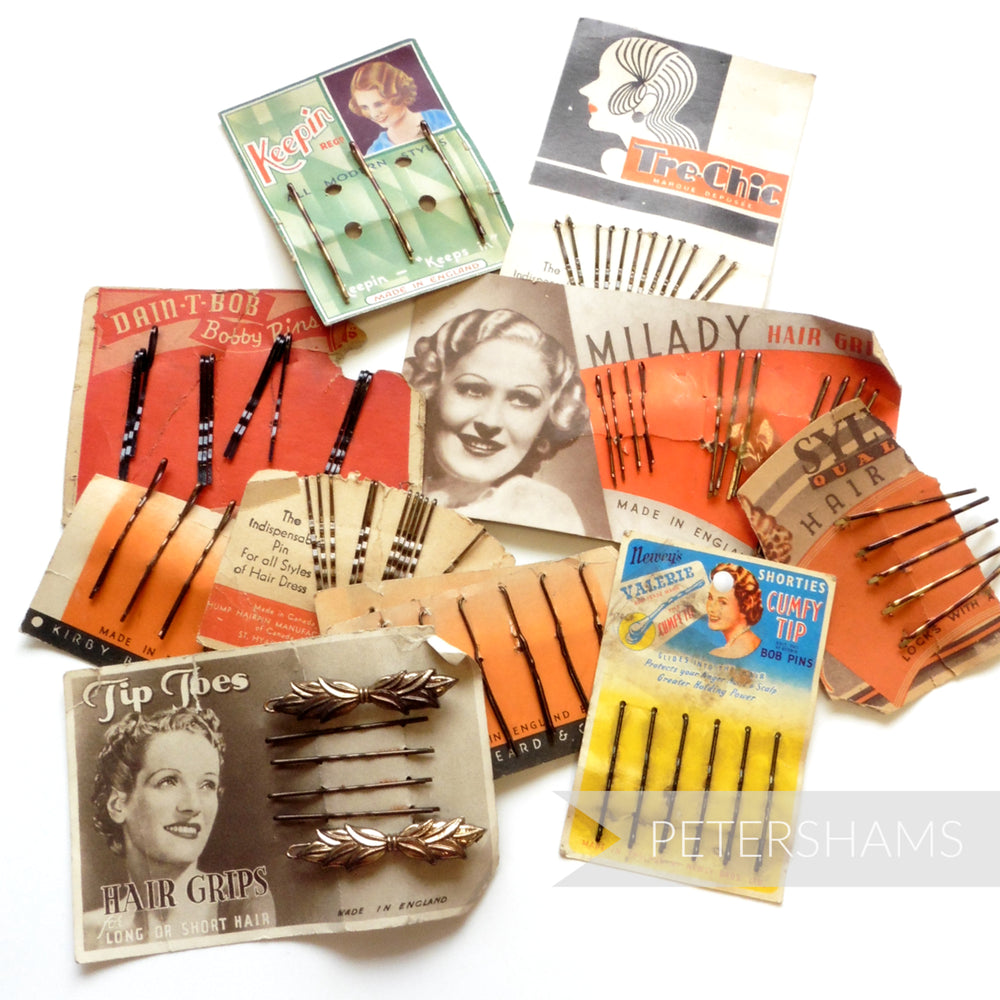 SALE SPECIAL - Collection of Damaged Vintage Hair Grip Cards