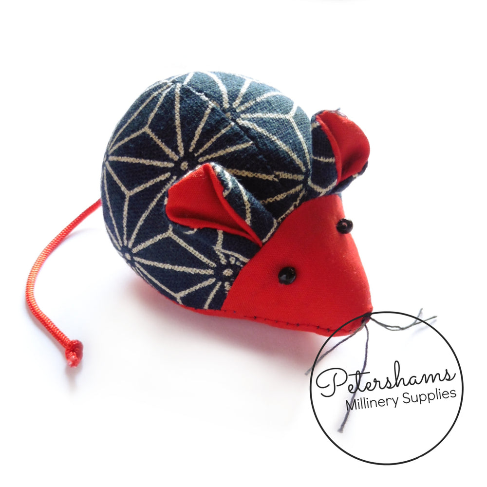 Prym Scandanavian Graphic Print Red Mouse Pin Cushion