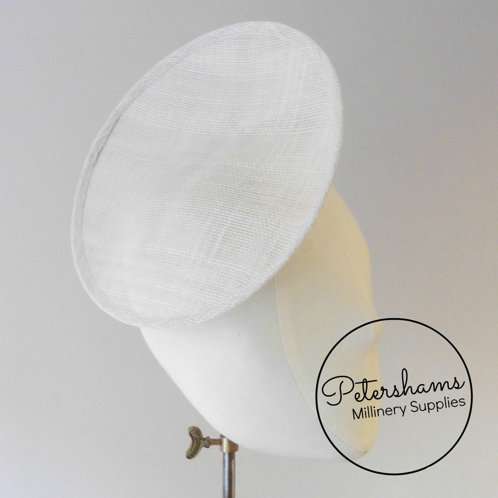 Rounded Scoop 21cm Sinamay Fascinator Hat Base
