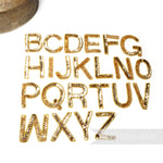 Gold Sequin & Beaded Alphabet and Numbers Motifs