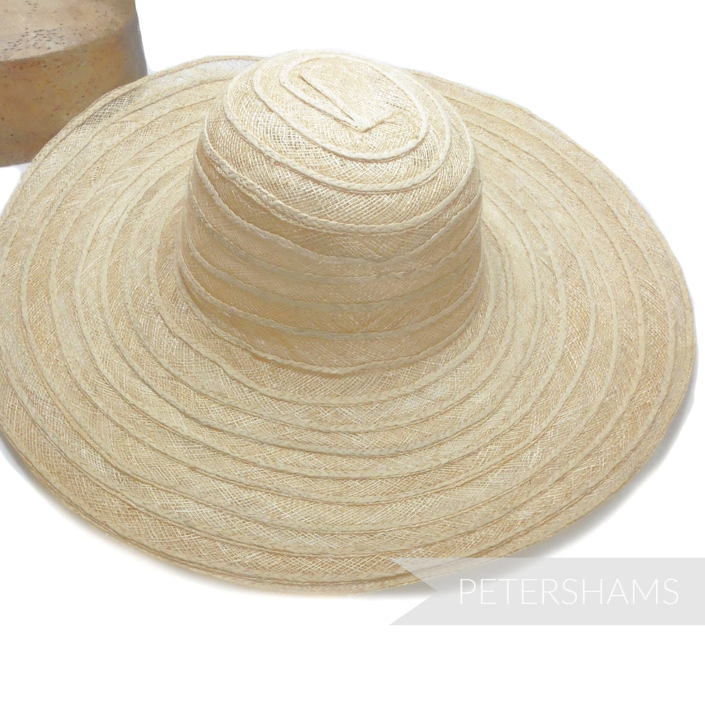 Sinamay & Plaited Raffia Capeline / Hat Base
