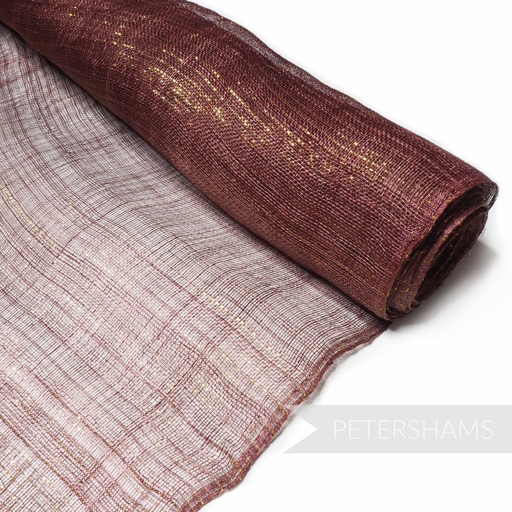 Pinstripe Lurex Threaded Sinamay Fabric - 1/2 metre
