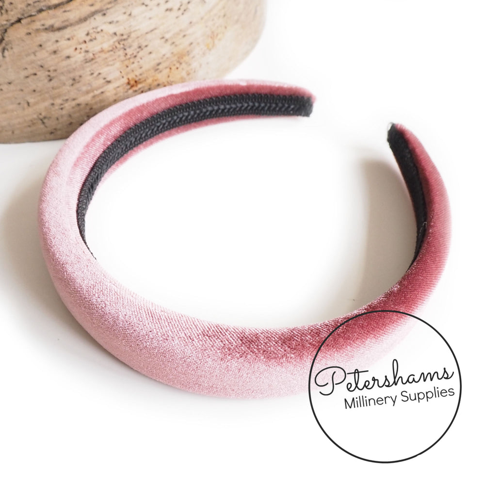30mm Skinny Super Padded Headbands - Velvet