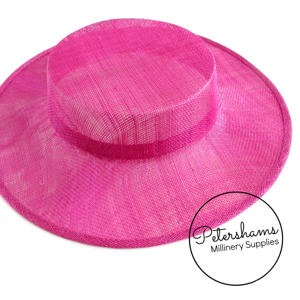 Small Brim Sinamay Boater Fascinator Hat Base