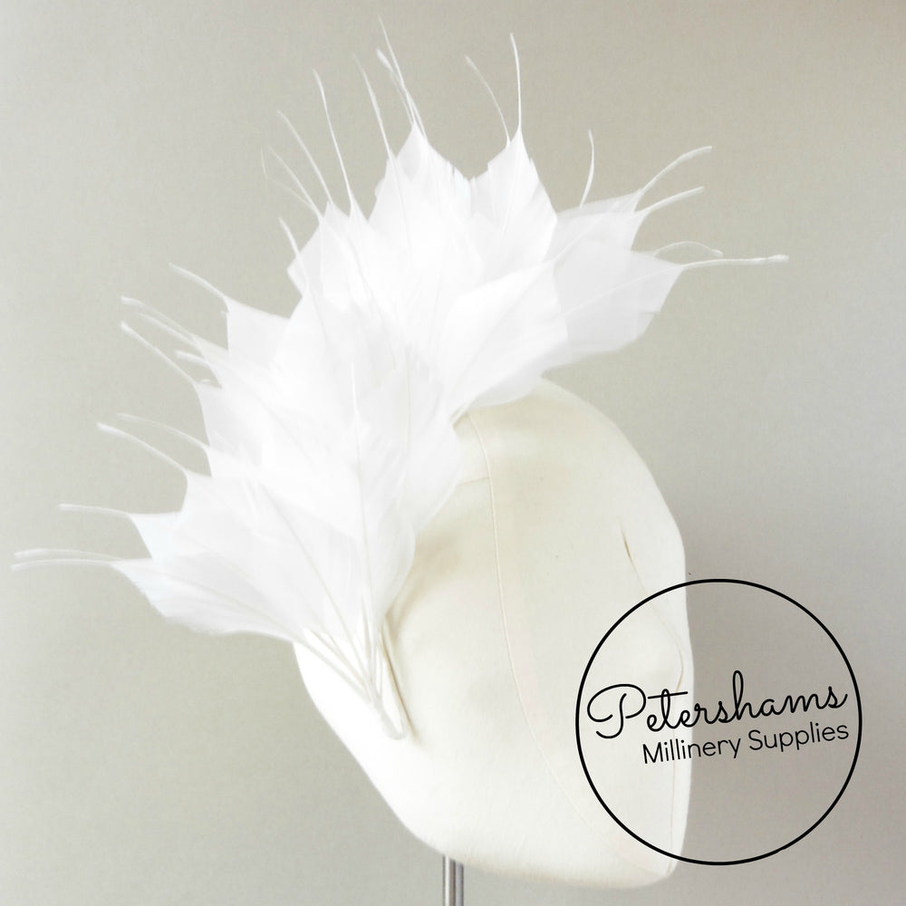 Large Spiky Goose Feather Wired Hat Mount