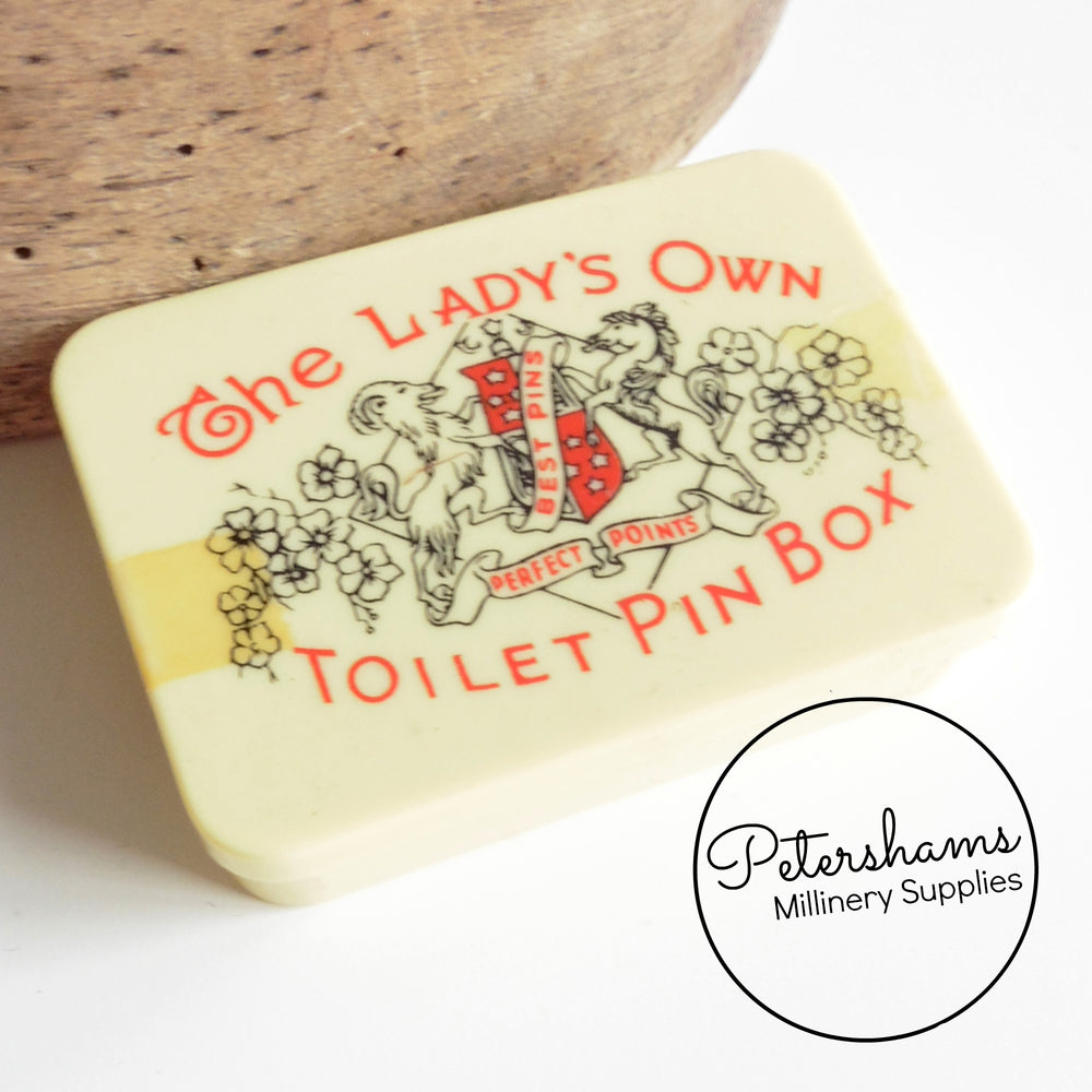 Vintage 1960s Lady's Own Toilet Pin Box
