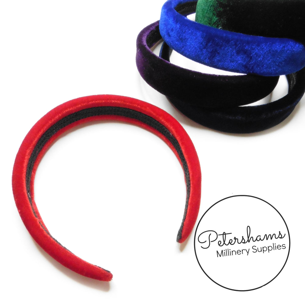 28mm Padded Velvet Headbands
