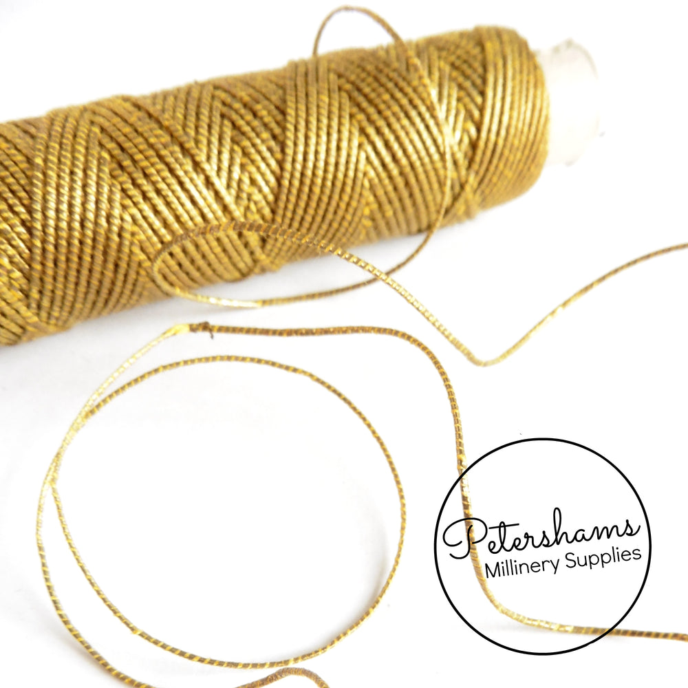 Vintage 1940s Metal Goldwork Passing Thread for Hand Embroidery 10oz - 24m Spool