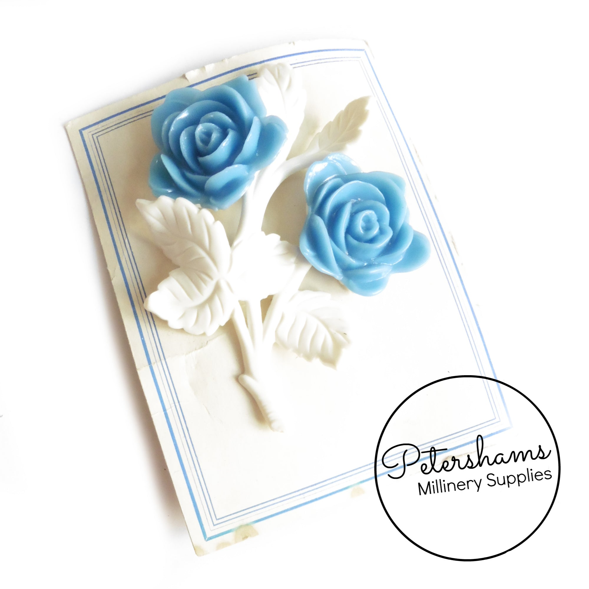 6cc1d63f246 Vintage 1950s Double Rose Brooch Pin – Petershams Millinery Supplies
