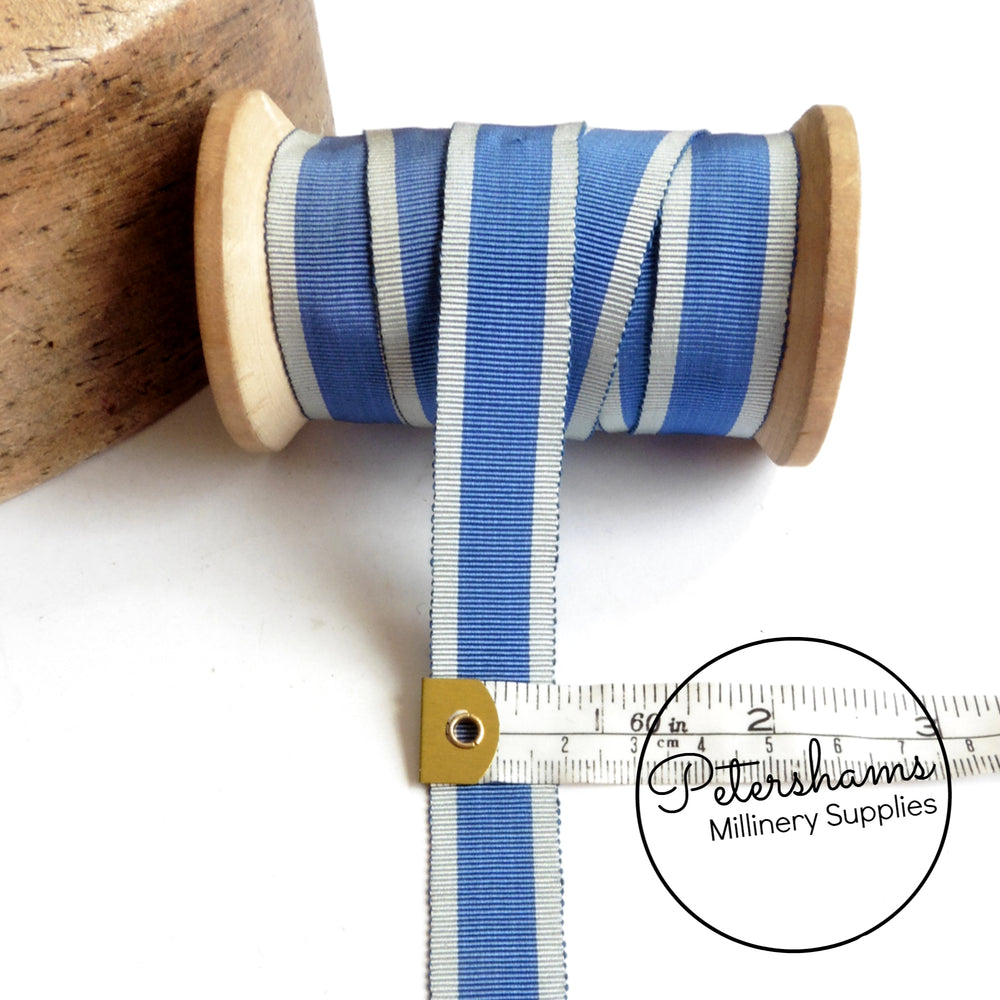 Vintage 20mm Wide Stripe Petersham Ribbon - 1m