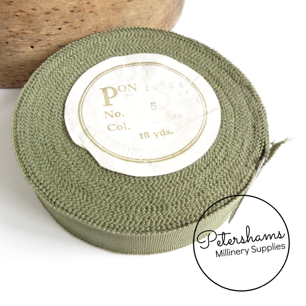 Vintage 25mm No.5 German Millinery Petersham Ribbon - 16m Roll