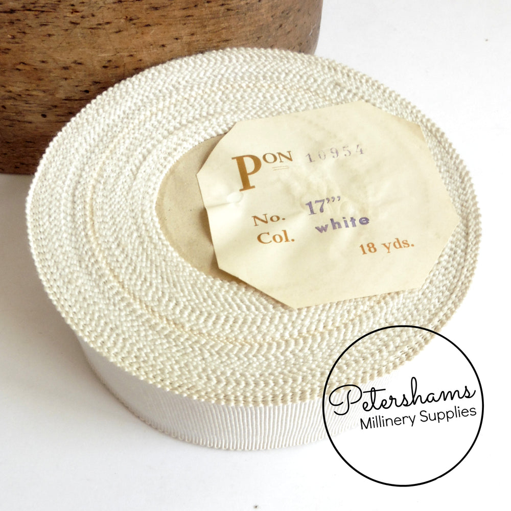 Vintage 38mm No.9 German Millinery Petersham Ribbon - 16m Roll