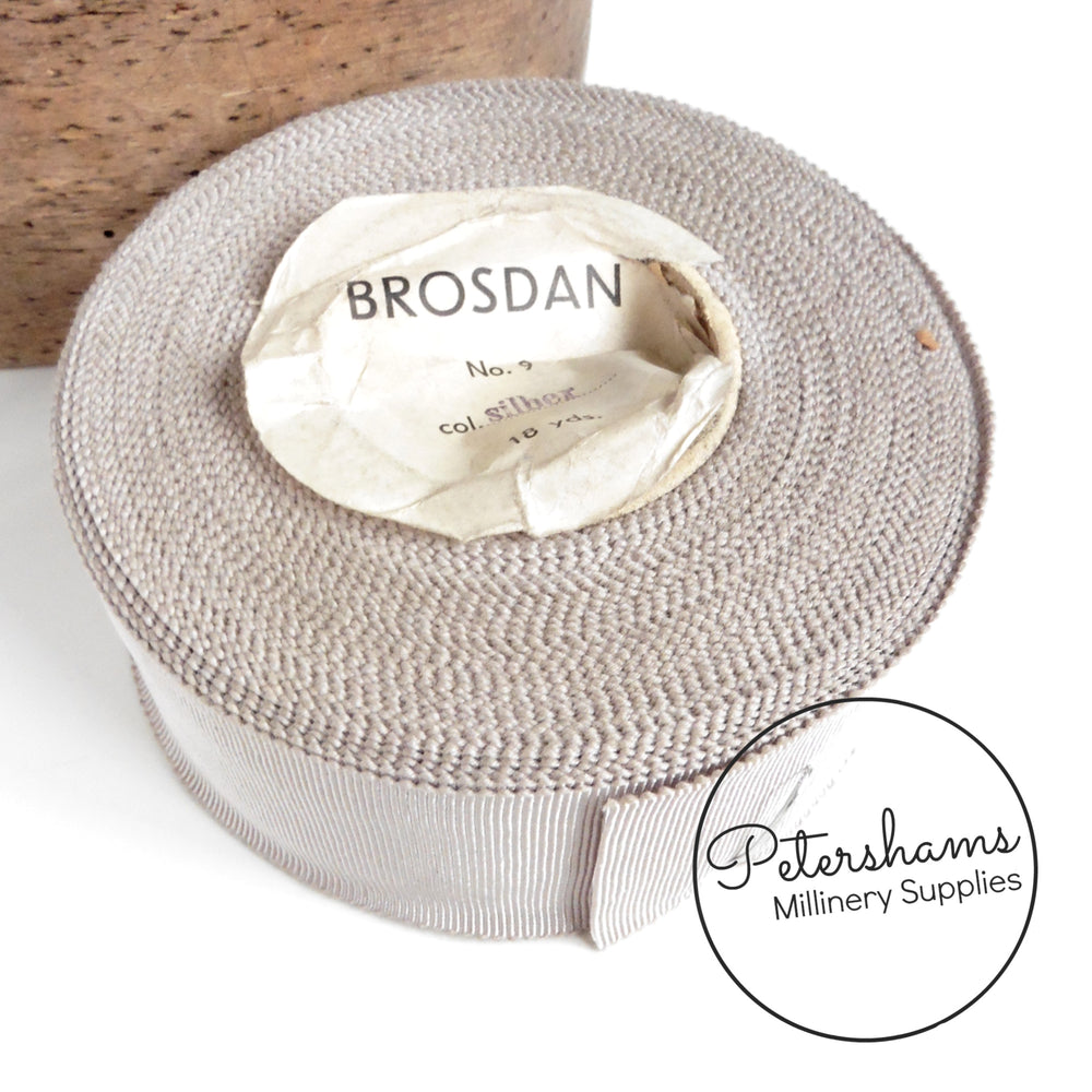 Vintage 43mm 'Brosdan' Millinery Petersham Ribbon - 16m Roll