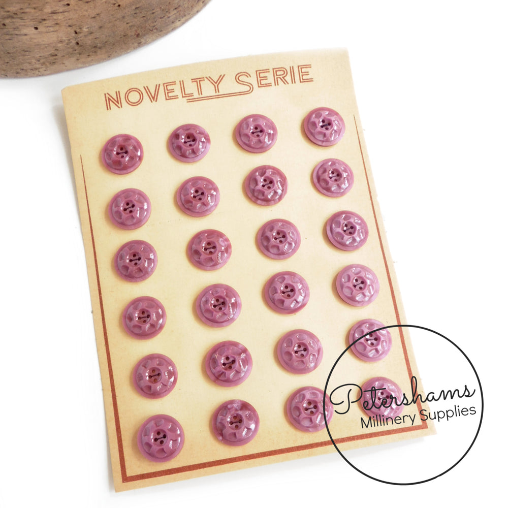 Vintage 1940s 'Novelty Serie' 16mm Swirl Buttons - Full Card
