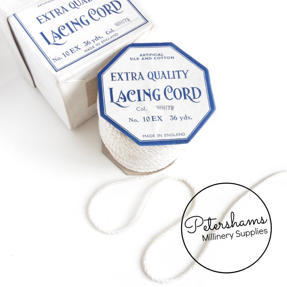 3mm Extra Quality Vintage 1940s/50s Lacing Cord - 32m Roll in Box