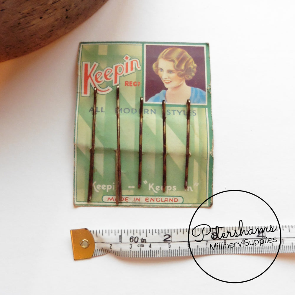 1930's-50's Card of Hair Grips / Bobby Pins