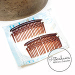 Pair of Vintage 1950s/60s 'Holdette' Tortoise Hair Combs on Card