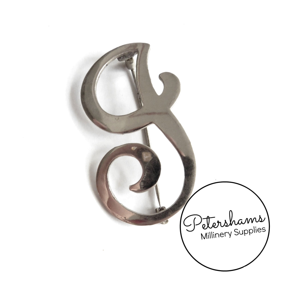 Vintage 1960's Initial Brooch Pin