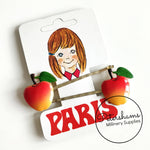 'Paris' Vintage 1970's Fruity Hair Grips on Original Card - Pair