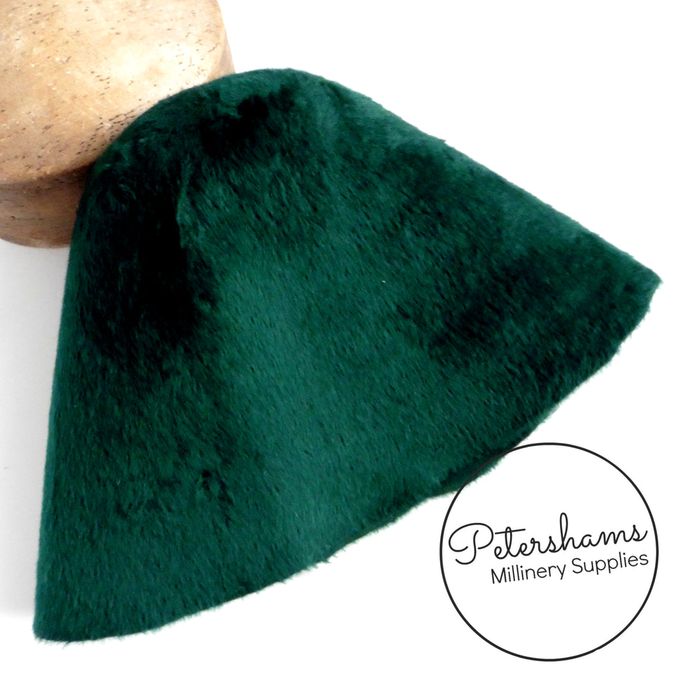 Melusine Vintage Fur Felt Cone Hood Hat Body - Greys & Greens