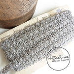 Vintage Metallic Silver French Trim - 1m
