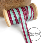 Vintage 15mm No.3 Wide Stripe Moire Petersham Ribbon - 1m