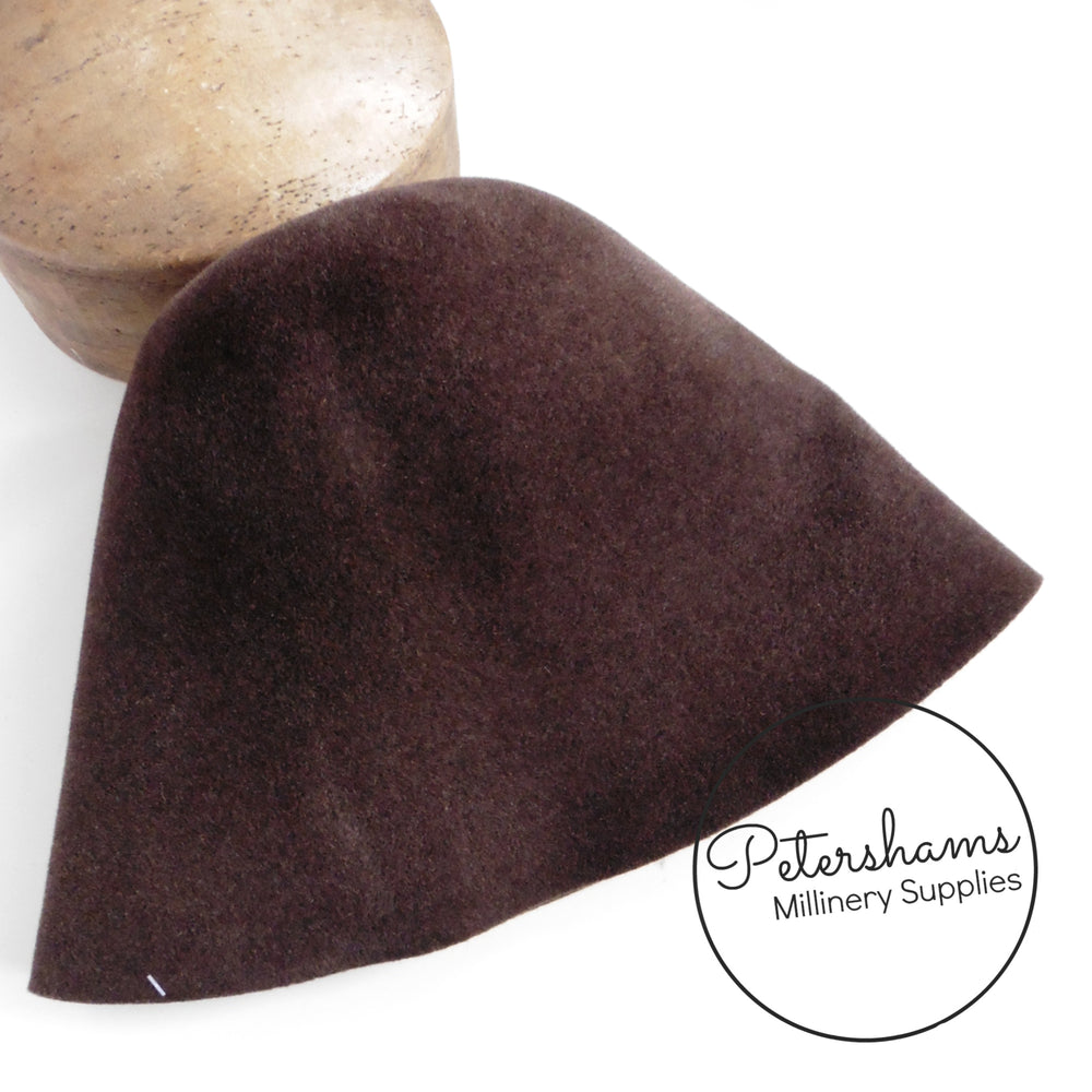 Mottled Vintage Fur Felt Cone Hood Hat Body