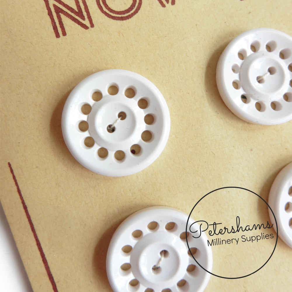 Vintage 1940s 'Novelty Serie' Telephone Dial Buttons - Full Card