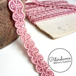 Vintage French 1950s Pink Sparkle & Satin Braid - 1m