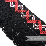 Vintage 1970's Zig Zag Patterned Embroidered Cotton Edge Fringe - 1m