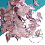 Vintage French 1940/50s 'Paillettes Au Coq' Sequins - Veined Leaves