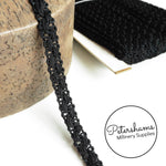 Vintage Interlocking Black Trim - 1m