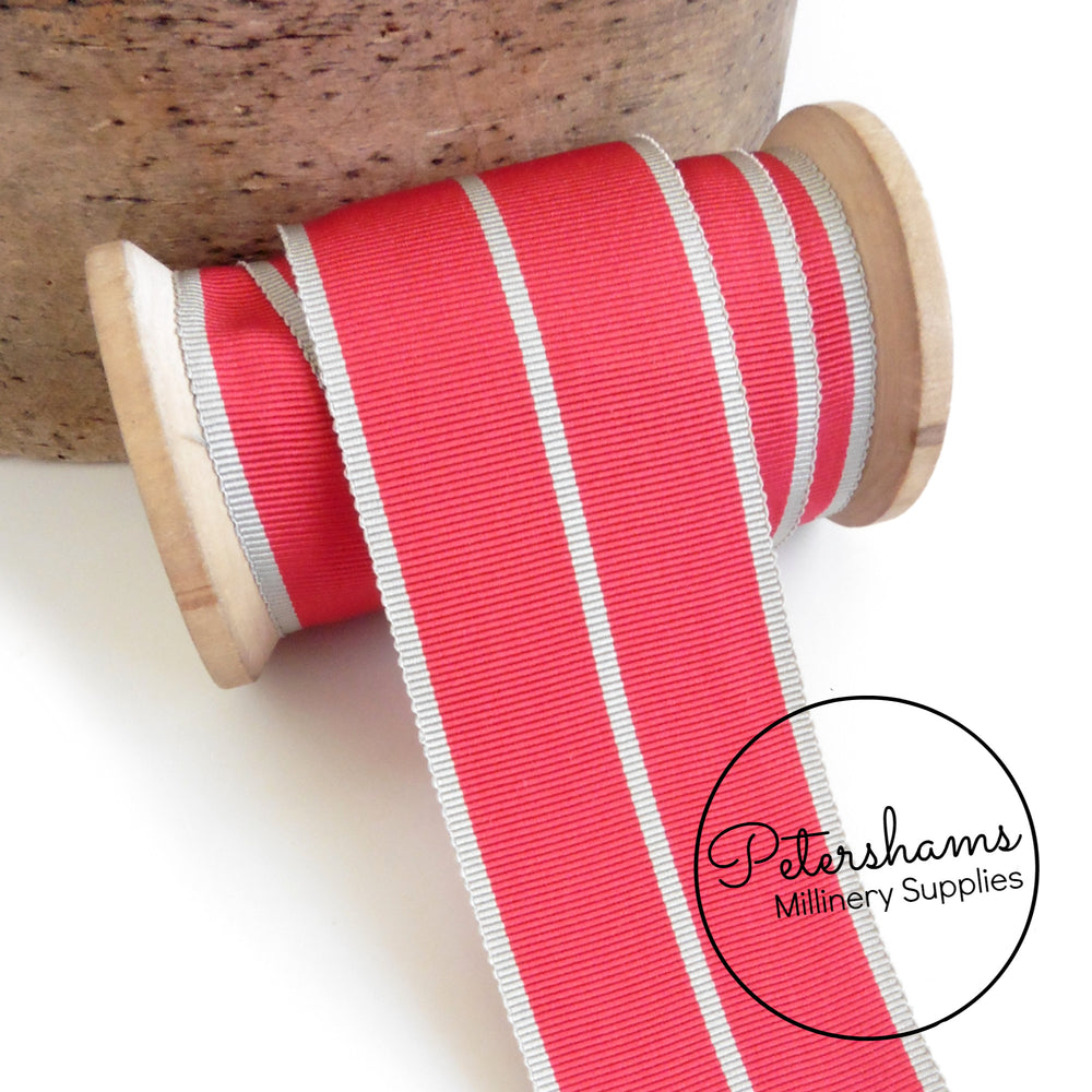 Vintage 45mm Wide Stripe Petersham Ribbon - 1m