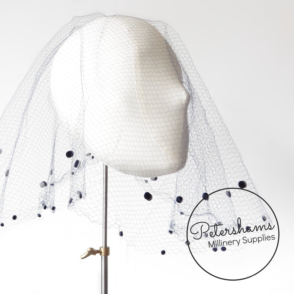 Vintage 1930's/40s Dotted Veiling Round - Eclipse