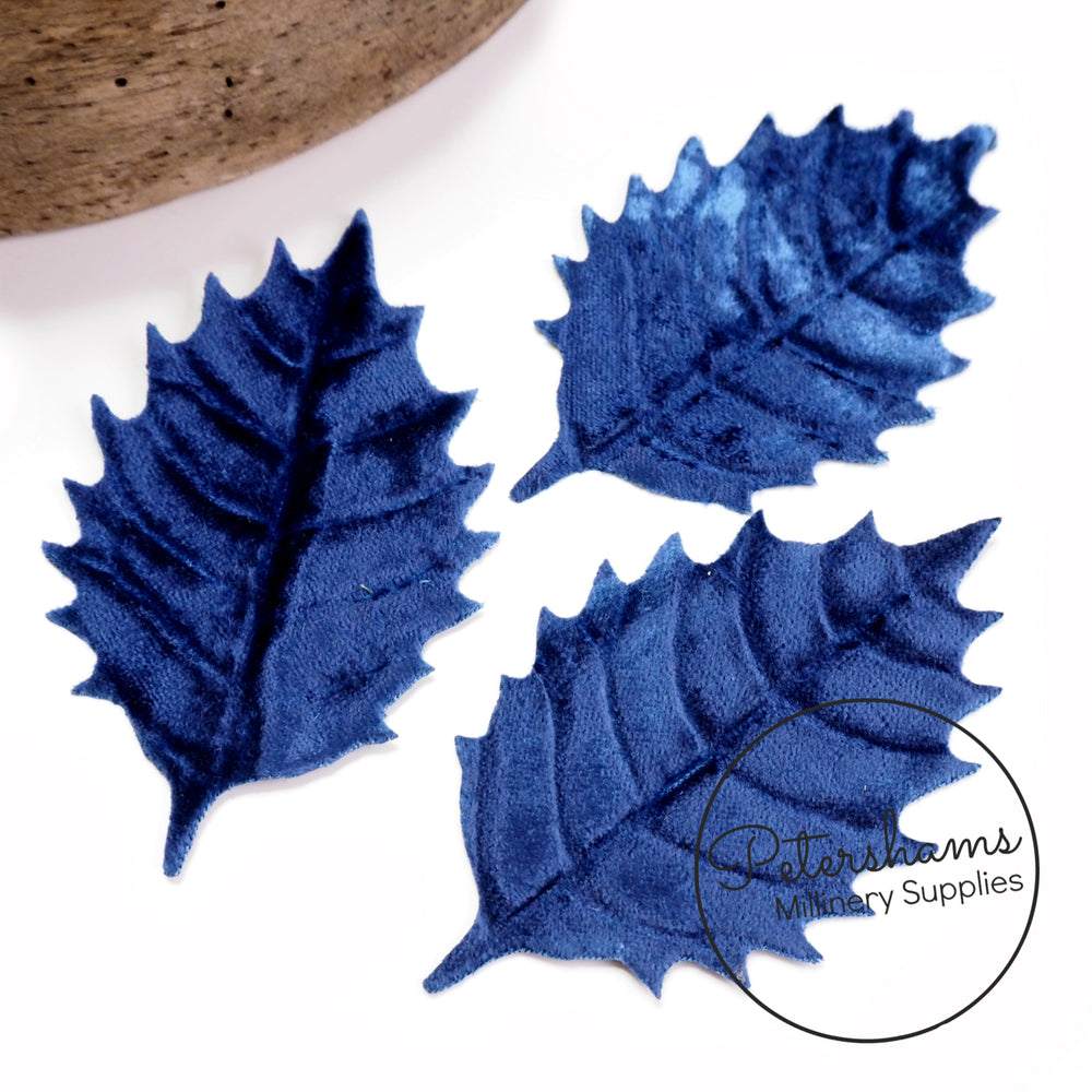 Velvet Leaves Handmade from 1920's Milliners Velvet - Set of 3