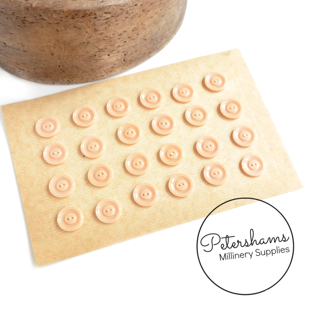 Vintage 1940s 19mm Simple Buttons - Full Card